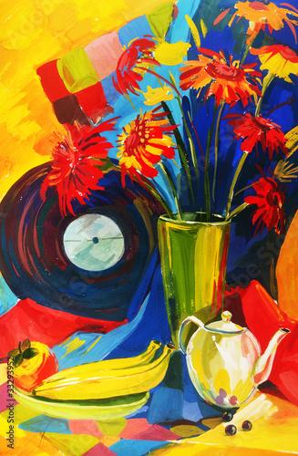 Obraz na Szkle STILL-LIFE FLOWERS.Summer