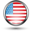 metal USA flag icon