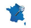 Strasbourg : Localisation sur carte de France - département du B