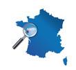 Nantes : Carte de France - département de La Loire-Atlantique