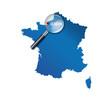 Le Havre : Carte de France - département de la Seine-Maritime