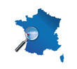La Rochelle : Carte de France - département Charente-Maritime