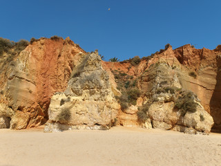 Colourful rocks and wonderful sands on the Algarve coast