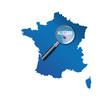 Auxerre : Localisation sur carte de France - Yonne