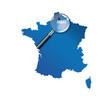 Arras : carte de France - departement Pas-de-Calais