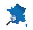 Arcachon : Carte de France - département Gironde