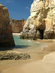 Colourful rocks on the Algarve coast