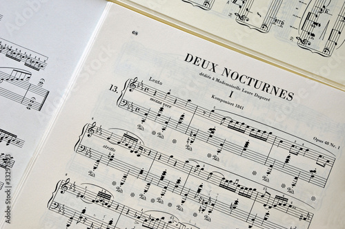 Poster Partition Nocturne CHOPIN00