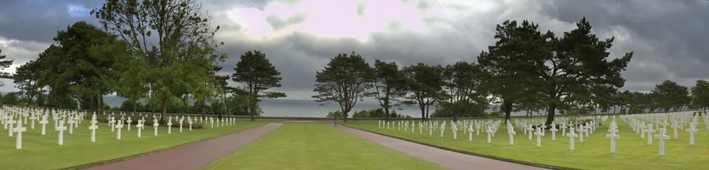 Panorama du cimetière américain de Colleville