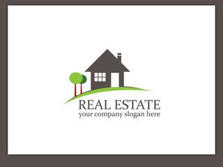 Immobilien Logo - Real Estate - Vector Template No. 11