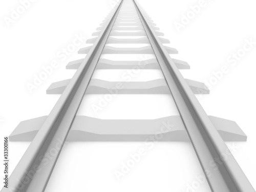 Railroad train tracks