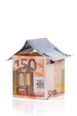 Casa fatte con banconote EURO