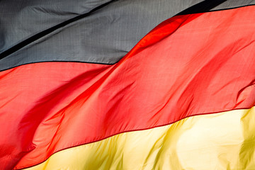 german flag in the wind