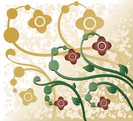 Flores em ramos