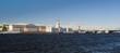 Panorama of St. Petersburg Neva River Embankment