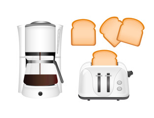 coffee machine and toaster
