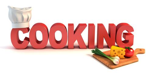cooking 3d concept