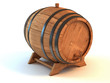 wine barrel 3d illustration isolated on the white background
