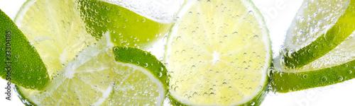 Foto Spatwand Water Limette & Zitrone
