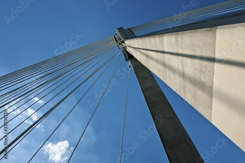 Detail of modern bridge abstract architecture © Cinematographer