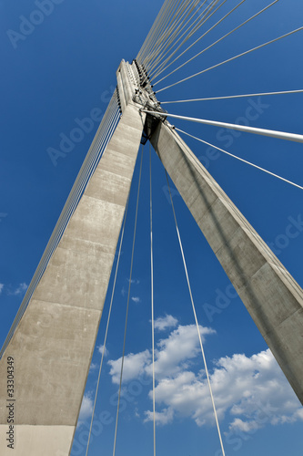 Abstract. Modern suspension bridge. © Cinematographer