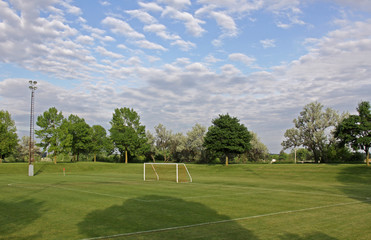 Soccer Field and Sky