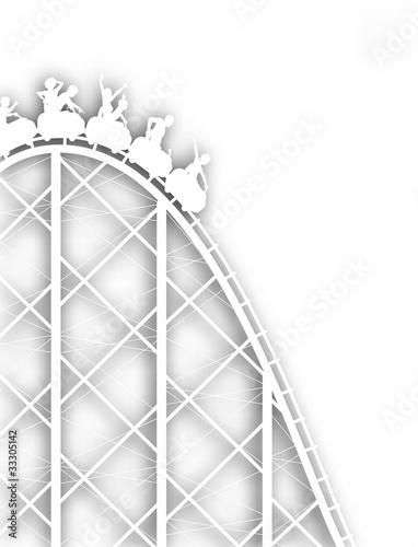 Rollercoaster cutout
