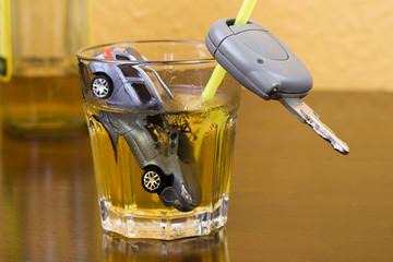 Steig nicht betrunken ins Auto