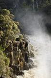 Řeky při povodni, jižní Esk, Launceston, Tasmánie