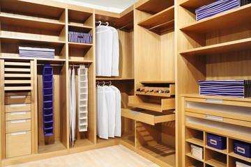 wood closet