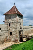 Restored bastion of Brasov fortress, Romania poster