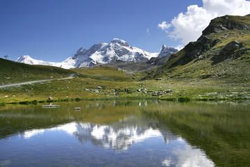 beautiful mountain lake in Alps, Zermatt