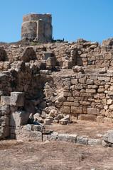 Sardinia, italy: view of Tharros' archaeological area