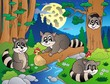 Forest scene with various animals 8