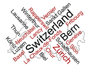 Switzerland map and cities