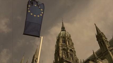 Cathédrale et le drapeau européen