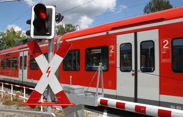 Bahnübergang mit Zug II