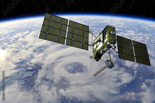 Modern GPS satellite - 33314711