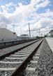 Bahnhof mit Schienen II