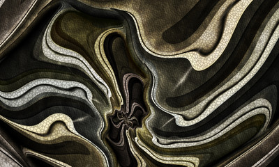 Dark Green and Brown Textured Fractal