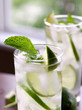 two mojitos closeup