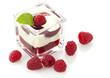 Himbeer Dessert mit Vanillesauce