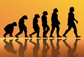 Fondo abstracto de la evolucion del hombre