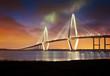 canvas print picture - Arthur Ravenel Jr Cooper River Suspension Bridge Charleston SC