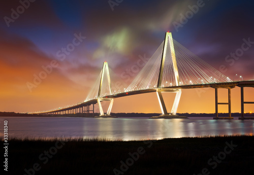 Plexiglas Brug Arthur Ravenel Jr Cooper River Suspension Bridge Charleston SC