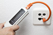 netzwerkdose testen mit kabeltester für lan