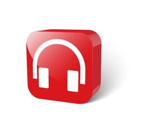 3d Musik Button