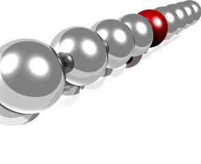 sfere, leader, acciaio , percorso