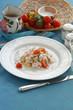 Camarones y polenta