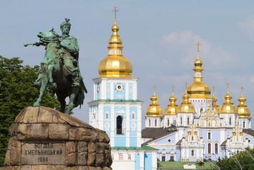 Monument of Bogdan Khmelnitsky in front of St. Michael's Monaste